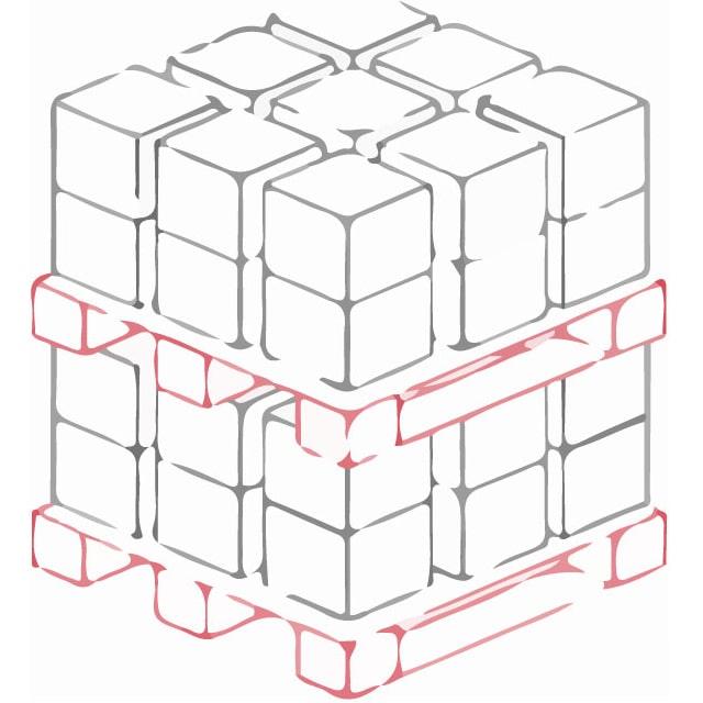 Кросс докинг 24 Двухярусное напольное хранение на паллетах