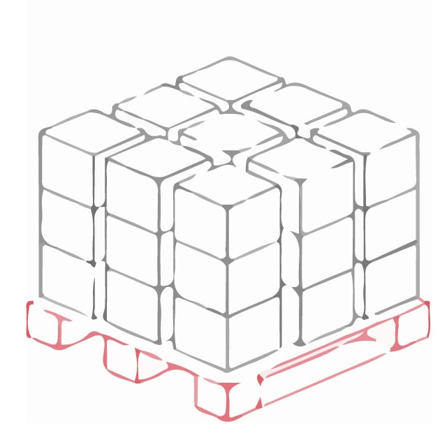 Кросс докинг 24 Одноярусное напольное хранение на паллетах